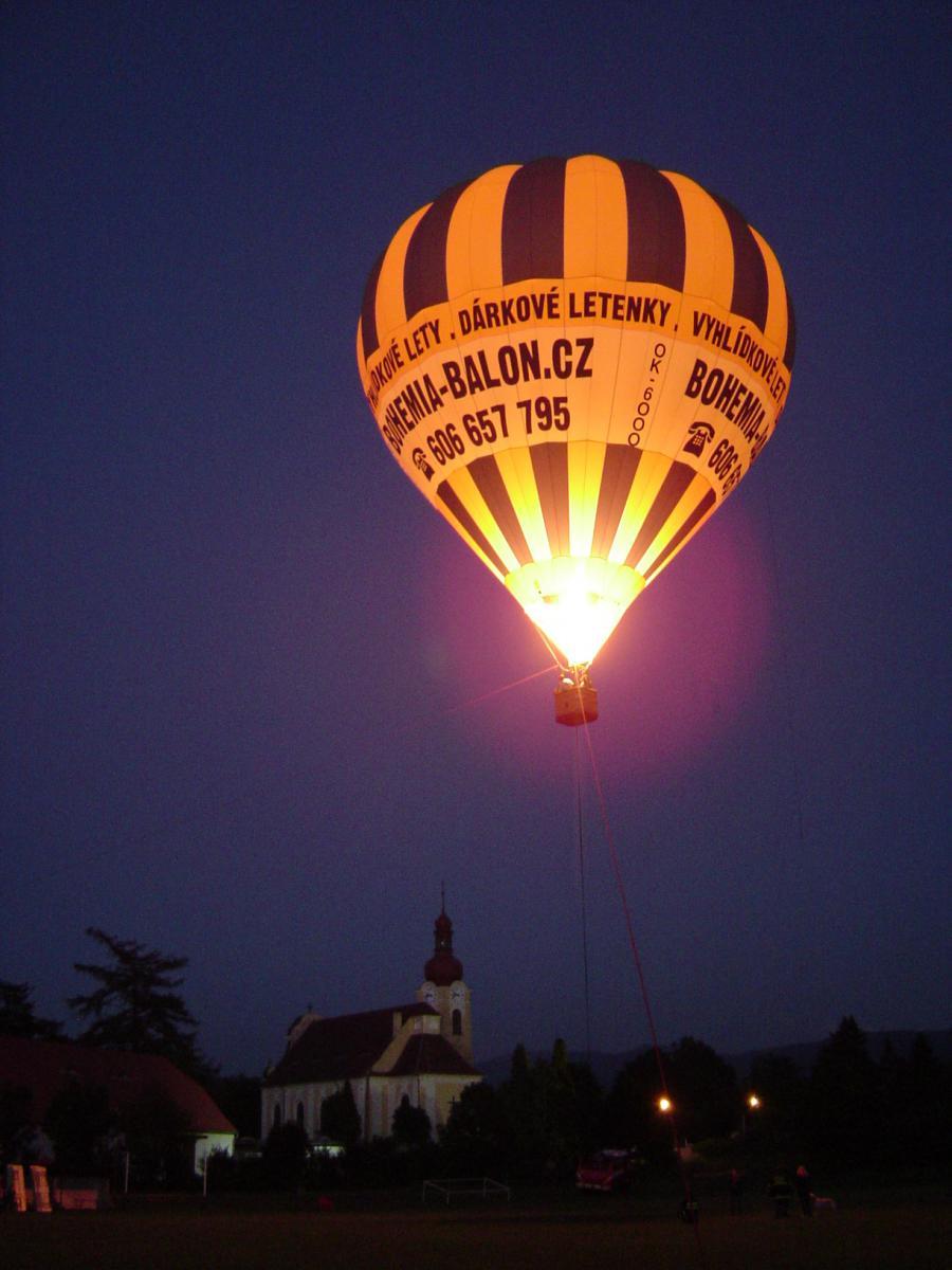 Tethered Balloon Bohemia Balon Sro Upoutan V Noci